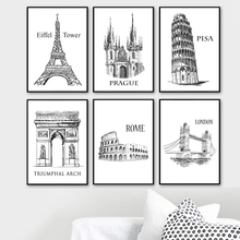 Paris London New York Rome Moscow Sydney Nordic Posters And Print Wall Art Canvas Painting Pictures Scandinavian Home Decor