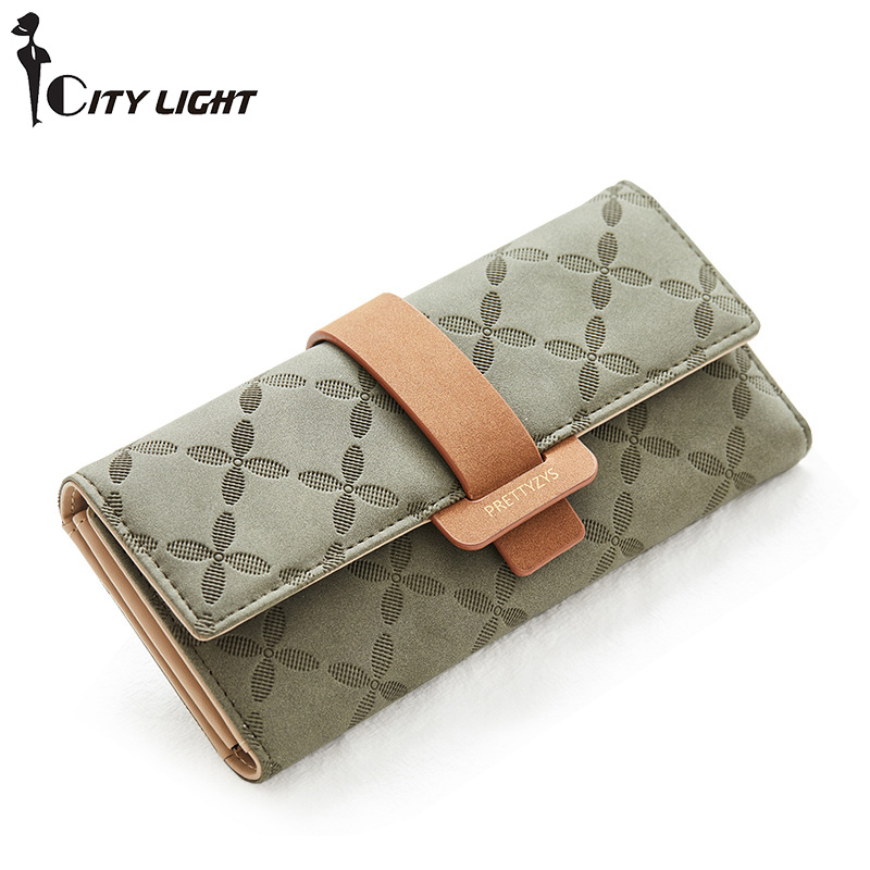 Women Fashion Hasp Three-Folds Wallet Portable Multifunction Long Change Purse Hot Female Coin Zipper Clutch For Girl Phone Bag