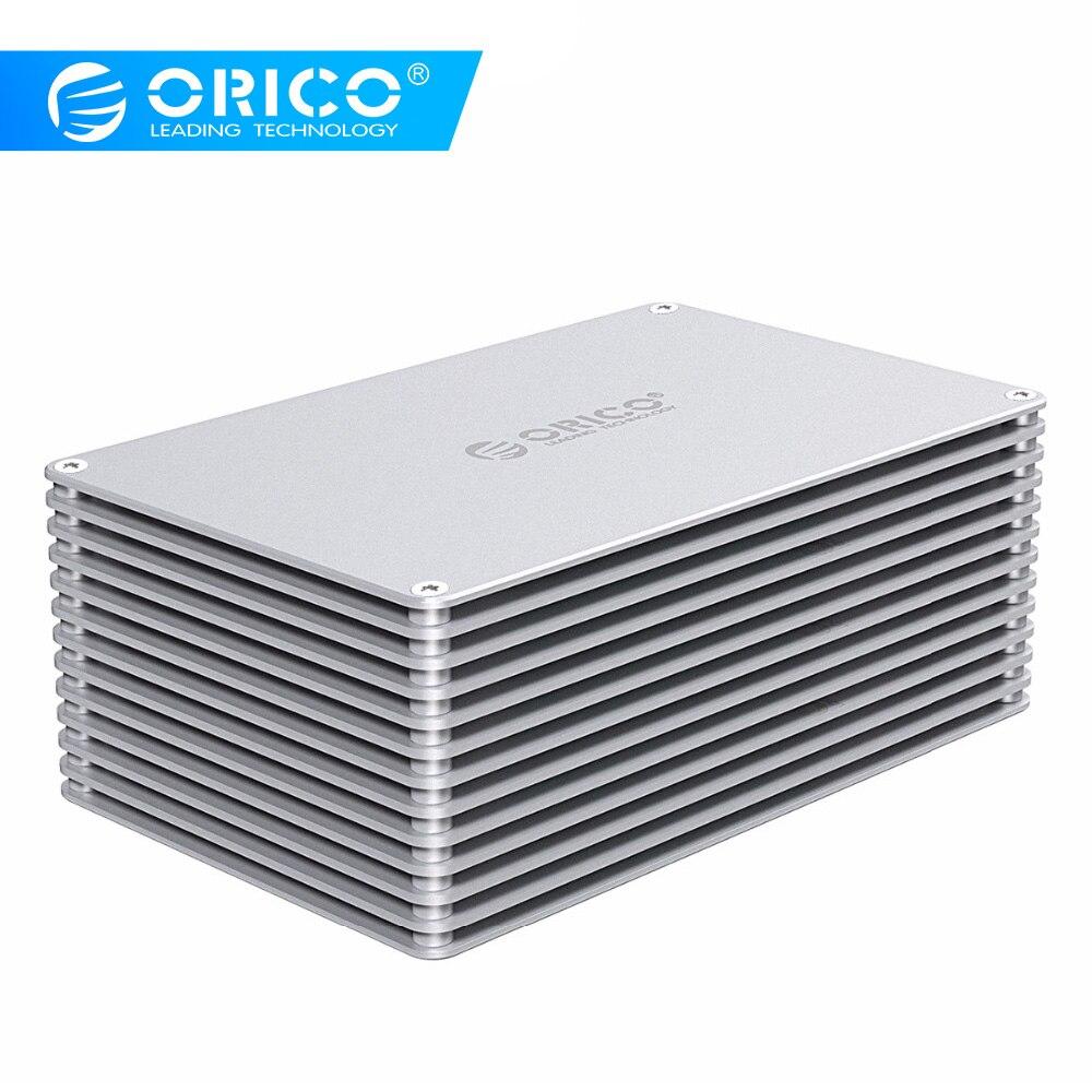 Boîtier ORICO HDD USB3.0 bricolage creux 2.5/3.5 pouces boîtier de disque dur en alliage d'aluminium avec 12 V EU Support d'alimentation capacité 20 to