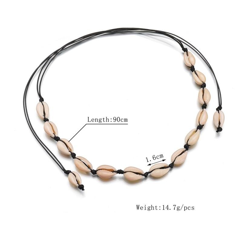 ASHMITA 2019 3 Style Vintage Beach Jewelry Bohemian Shell Hand-Woven Simple Pendant Necklace Bracelet Set For Women Girl