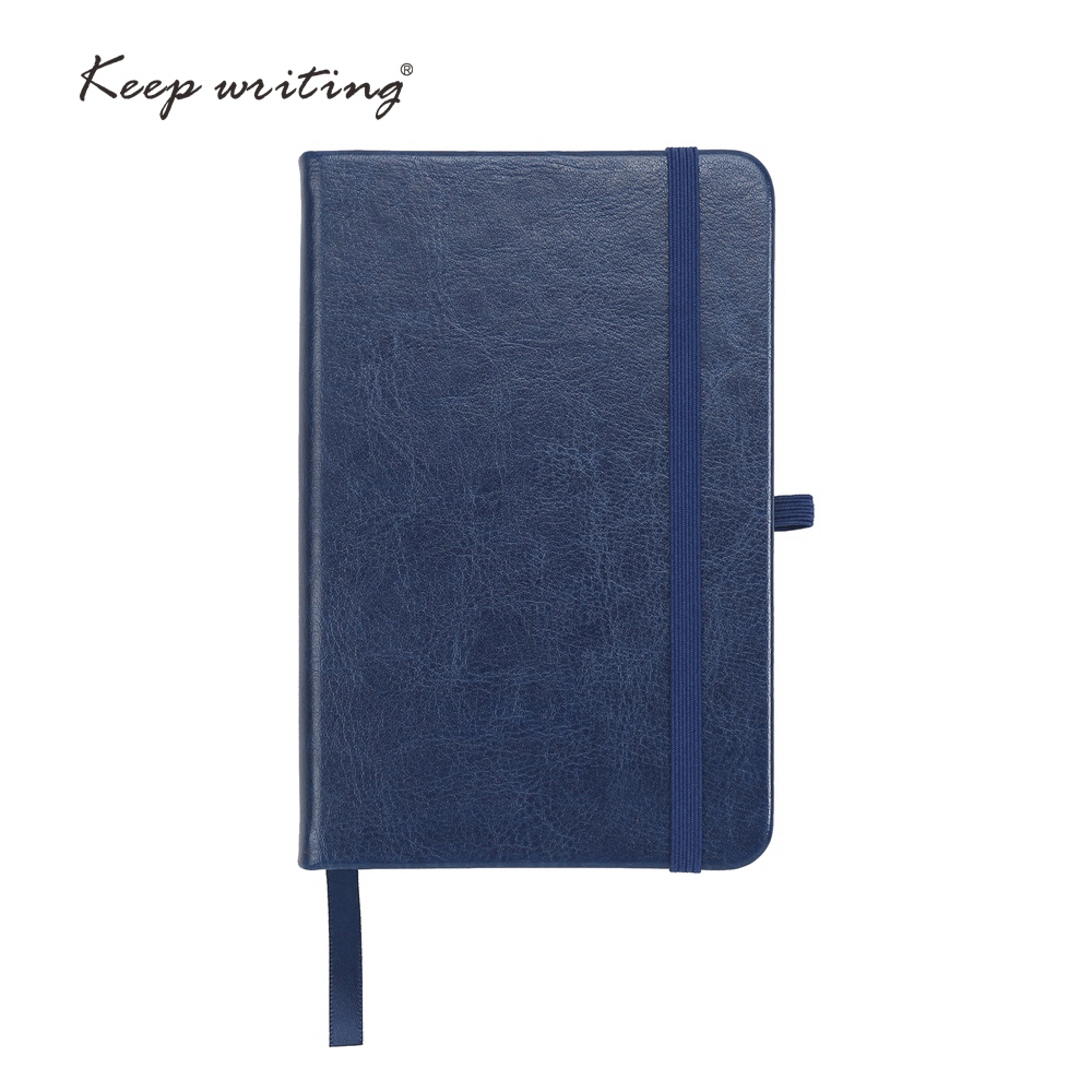 A6 notebook with elastic band and pocket 100 sheets cream paper lined pages Plain page PU leather notepad small journal пудра компактная матирующая joli moyen vivienne sabo тон 03