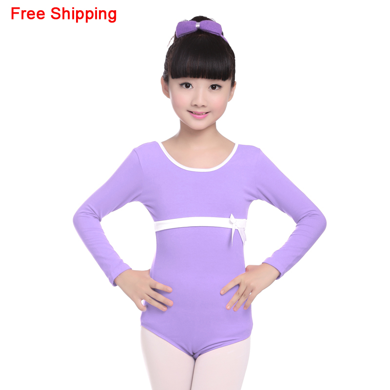 ✓Lindo algodón largo/manga corta arco danza ropa niños niñas niños ...