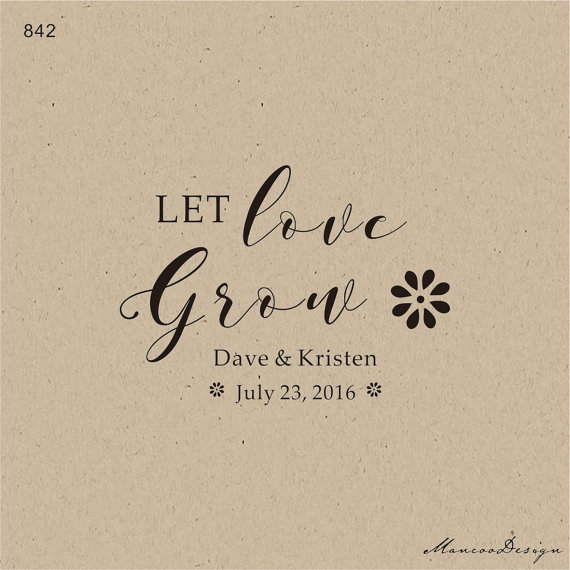Let Love Grow Sunflower Stamp Seed Wedding Favor Stamp And Favor