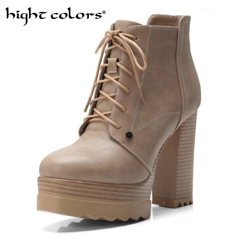 2019 Autumn New Sexy Bare Boots Cross Strap Thick With Super High Heel Women Shoes 40 42 Martin Boots Casual Ladies Footwear
