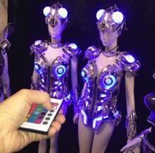 Led Luminous Sexy Women Ballroom Costume LED DJ Nightclub Party Catwalk Show costume props clothing upgrades Stage