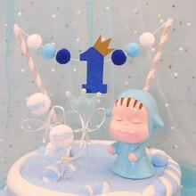 1 шт. сладкий один год помпон торт Топпер торт на день рождения украшения для душа ребенка Дети День рождения подарки