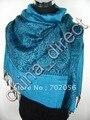Encanto paisley mantón de la bufanda de seda del abrigo de cachemir ponchos Neckscarf 12 pc/lot #1748