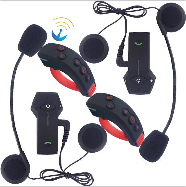 2sets Remote Control BT Headsets 1000m Bluetooth Motorcycle Helmet Intercom Motorbike casco  Inter phone Colo-RC+L3 carchet 2x bt bluetooth motorcycle helmet inter phone intercom headset 1200m 6 rider motorbike headset handsfree call
