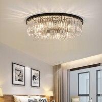 Cristal redondo luces de techo salón lámpara moderna lámpara de techo comedor dormitorio decoración iluminación plafon led para techo lampara de techo moderna lampara techo dormitorio lamparas led techo plafon led