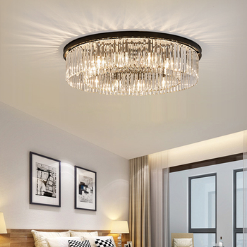 Cristal redondo luces de techo salón lámpara moderna lámpara ...