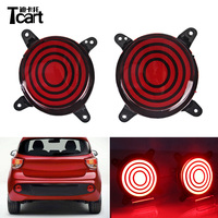 Tcart 1Set Car LED Rear Bumper Lights Back Brake Tail Light Auto Led Red Warning Lamps Reflector Bulbs For Hyundai i10 2017 2018
