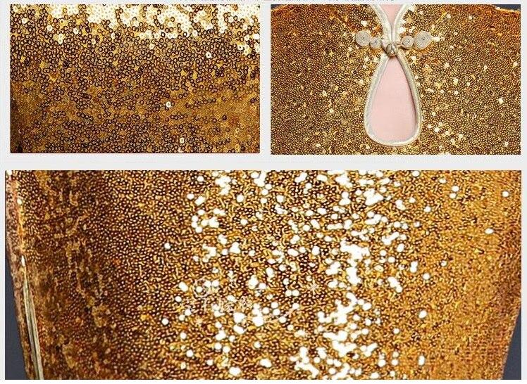 ханымы қысқа алтын соқпақ ресми кешкі - Ұлттық киім - фото 4