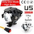 One Mode Hgih Beam 1 PCS LYLLA 125W 2 Color Motorcycle Motorbike Headlight 3000LM U5 LED Driving Fog Spot Head Light Lamp