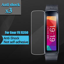 Anti-shock Clear Screen Protector For Samsung Gear Fit R350 Screen Guard for Samsung SM-R350 Screen Film With Package 3pcs/lot