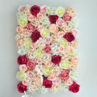 10 STKS Rose Bloem Muur Kunstmatige Bloemhoofdjes Zijde Decor Bloem Hotel Bruiloft Achtergrond Muur Gazon Pijler Road Lood Thuis Decor