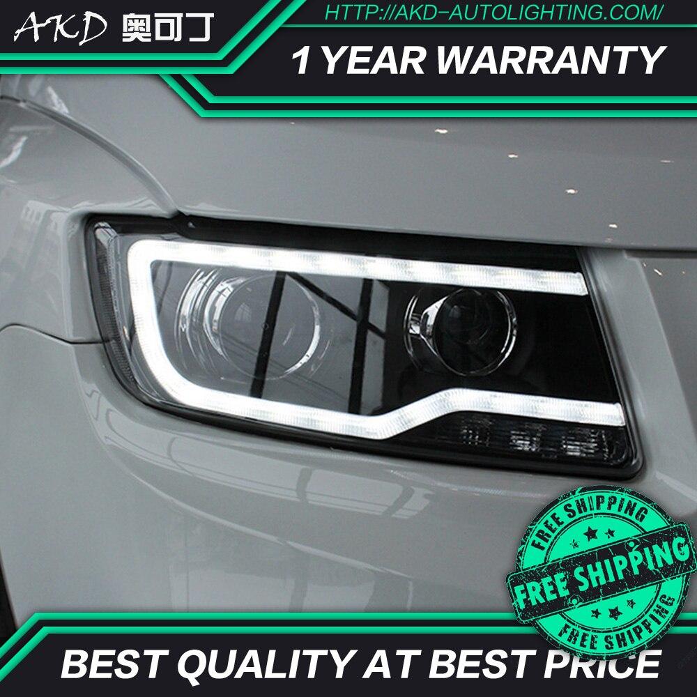 AKD tuning cars Headlight For Jeep Compass 2011 2016 Headlights LED DRL Running lights Bi Xenon