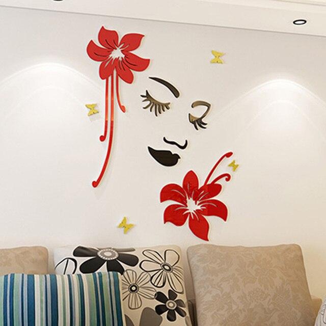 Aliexpress Com Buy New Design Creative Diy Wall Stickers: Aliexpress.com : Buy New 3D Acrylic Wall Stickers Flowers