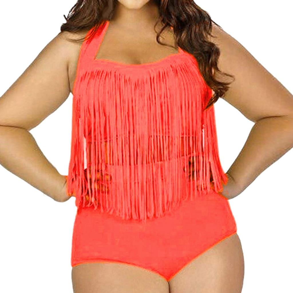 4042711d3d 2017 New Sexy Bikinis Women Swimsuit Bathing Swim Suit High Waist Bikini Set  Plus Size Swimwear Large XXXL Biquini Tankini Monok