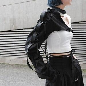 Image 2 - [EAM] Camisa de manga larga de una cara para mujer, camisa con personalidad Irregular, blusa de moda JX407, primavera y verano, 2020