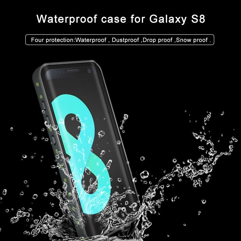 bilder für 2 mt 6.6ft Wasserdicht Fall für Samsung Galaxy S8 Plus Wasserdicht Stoßfest Abdeckung Fall für Galaxy S8 Schwimmen Tauchen fall