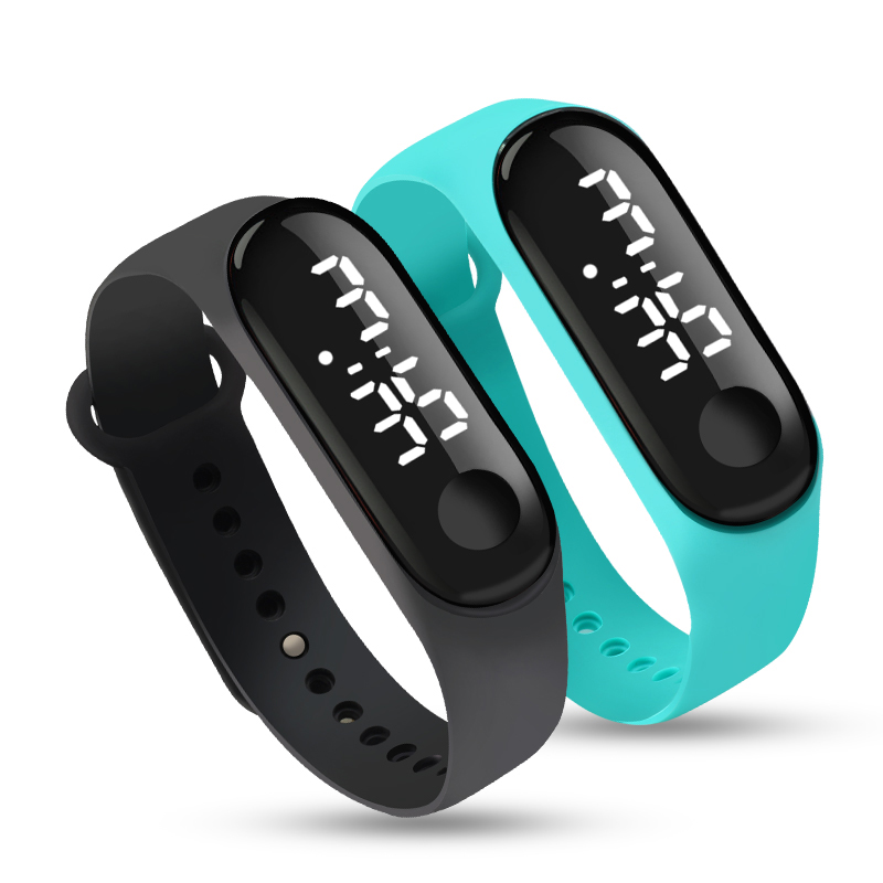 Men LED Digital Watch Luxury White Light Touch Screen Silicone Strap Wristwatch Women Sports Yoga Bracelets Watches Kids Clocks 1