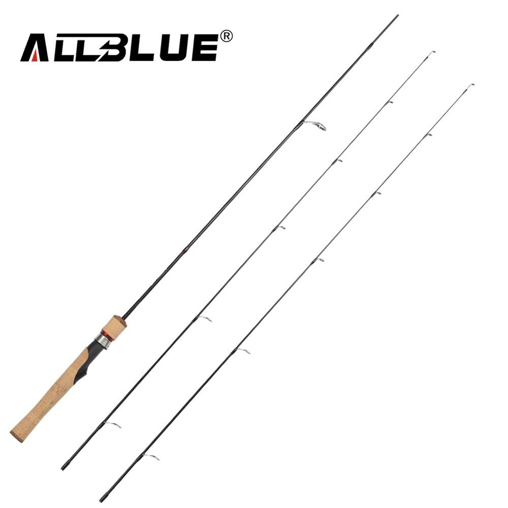 ALLBLUE Viking Spinning Rod UL/L 2 consejos 1,68 M ultraligero 1/32-1/4 oz 2-8LB carbono pesca suave pesca peche pesca