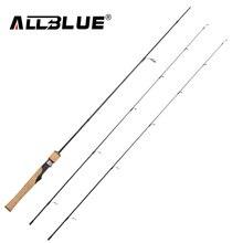 Allblue viking fiação haste ul/l 2 dicas 1.68m ultraleve 1/32 1/4oz 2 8lb carbono suave pesca vara pesca peche equipamento