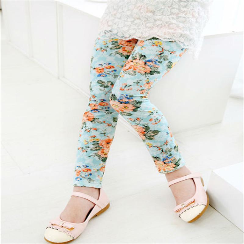 New Style Spring Autumn Children Leggings Flower Butterfly girls pants kids legging 22