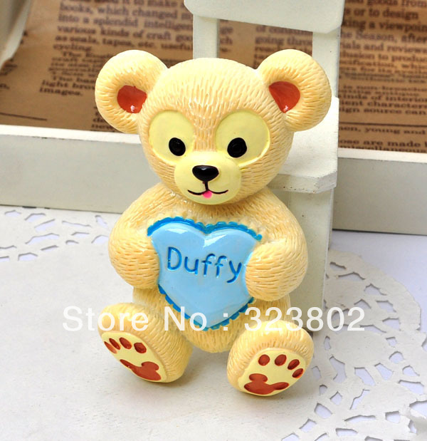 Flatback Resin Doll Blue Duffy Heart Yellow Bear Cell Phone Case Jewelry Accessories Supply