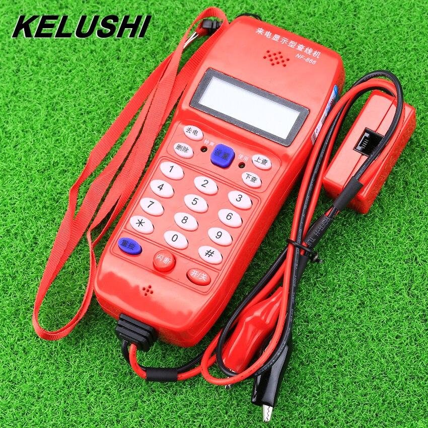 KELUSHI NF-866 Téléphone Testeur de Câble de Ligne Téléphonique en fiber optique outil Vérifier Téléphone DTMF Caller ID Détection Automatique Recherche machine