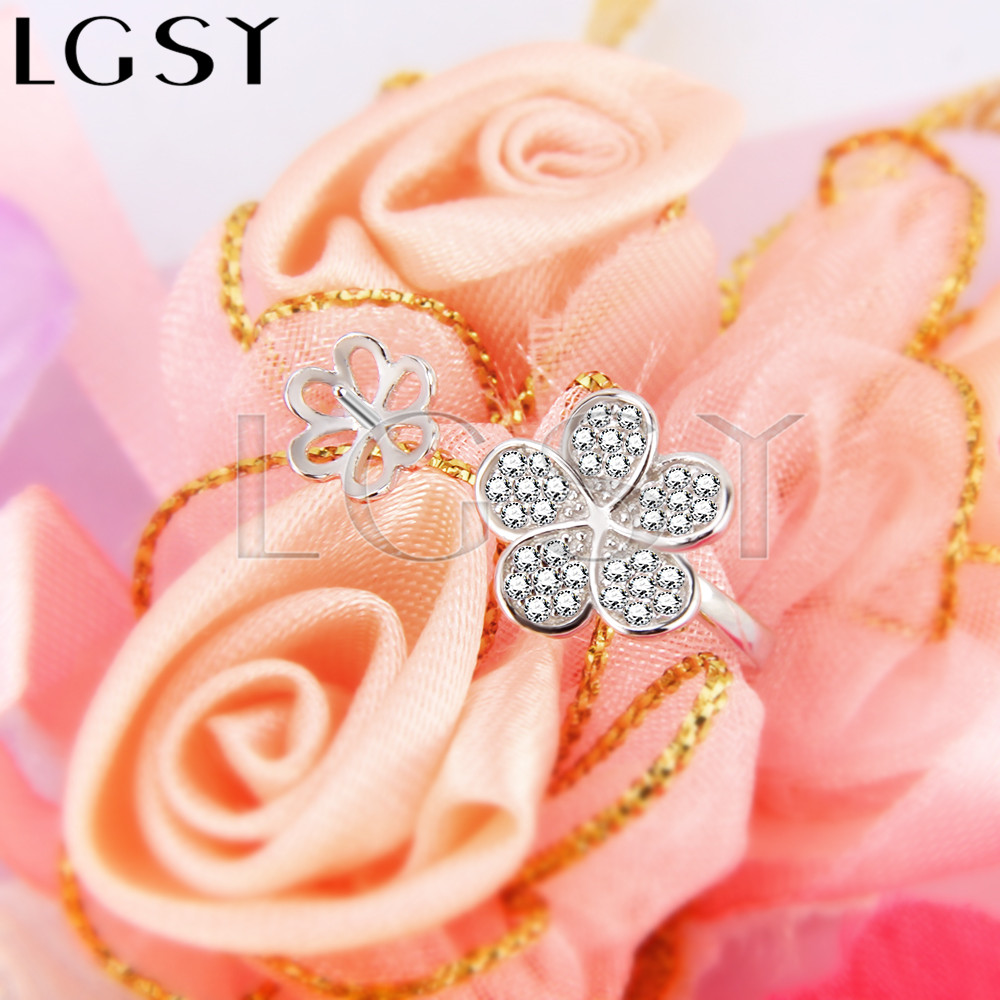 Fashion style adjustable 925 sterling silver ring flower shape accessories with bar for stick pearls onto for wedding wearing