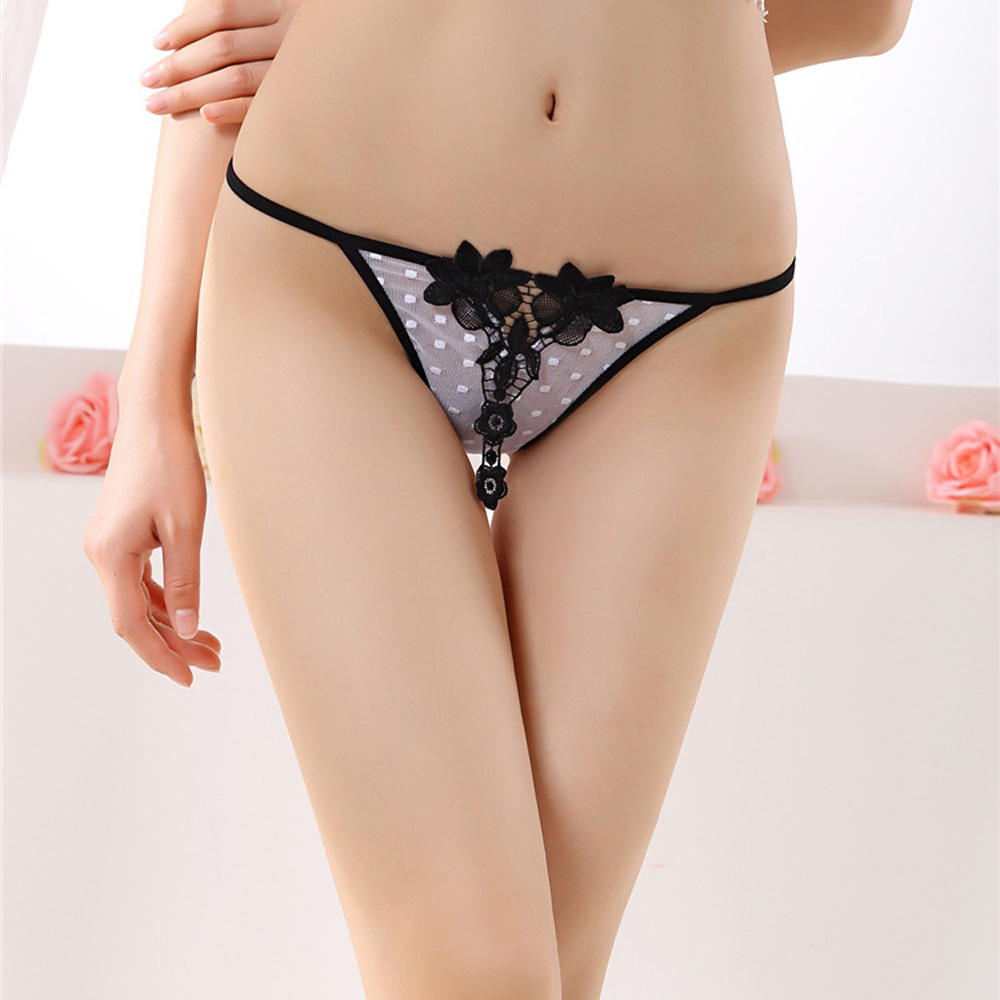 Women Sexy Dot Lace Knickers Panties Lingerie Briefs Underwear Thongs G-String Intimates Briefs Underpants Culotte Femme