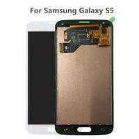 TOP Quality Black White Digitizer Assembly For Samsung Galaxy S5 I9600 SM G900 G900F G900R G900F