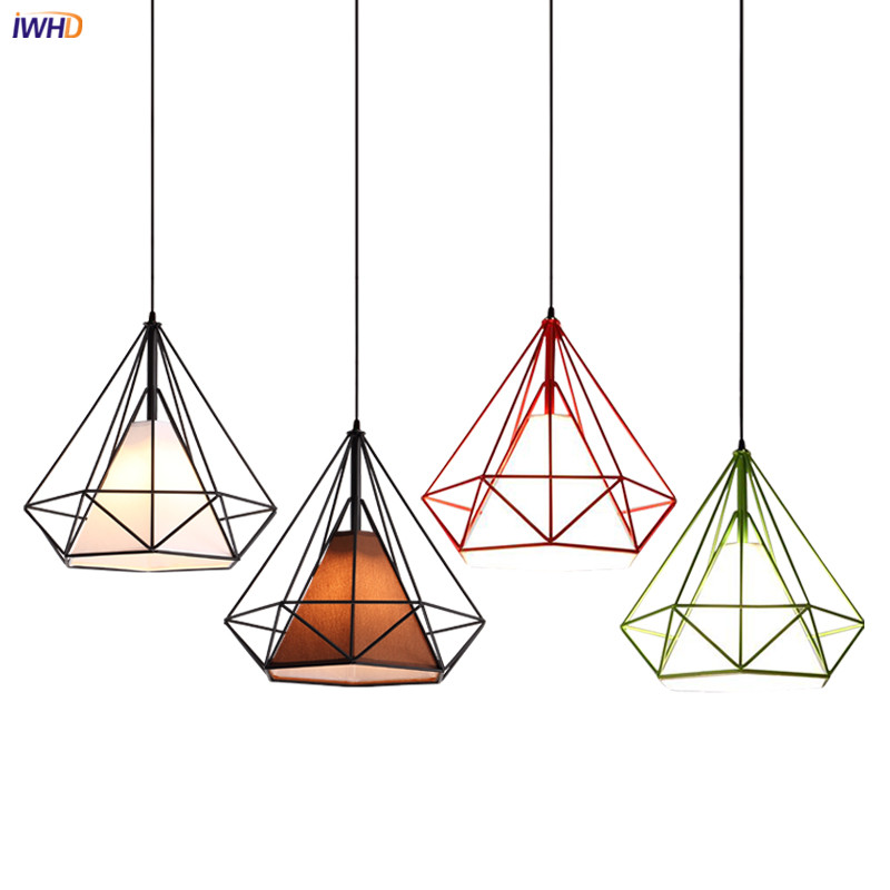 IWHD Vintage LED Pendant Light Fixtures Dinning Living Room Hanging Lamp Loft Industrial Pendant Lights Hanglamp Pendente