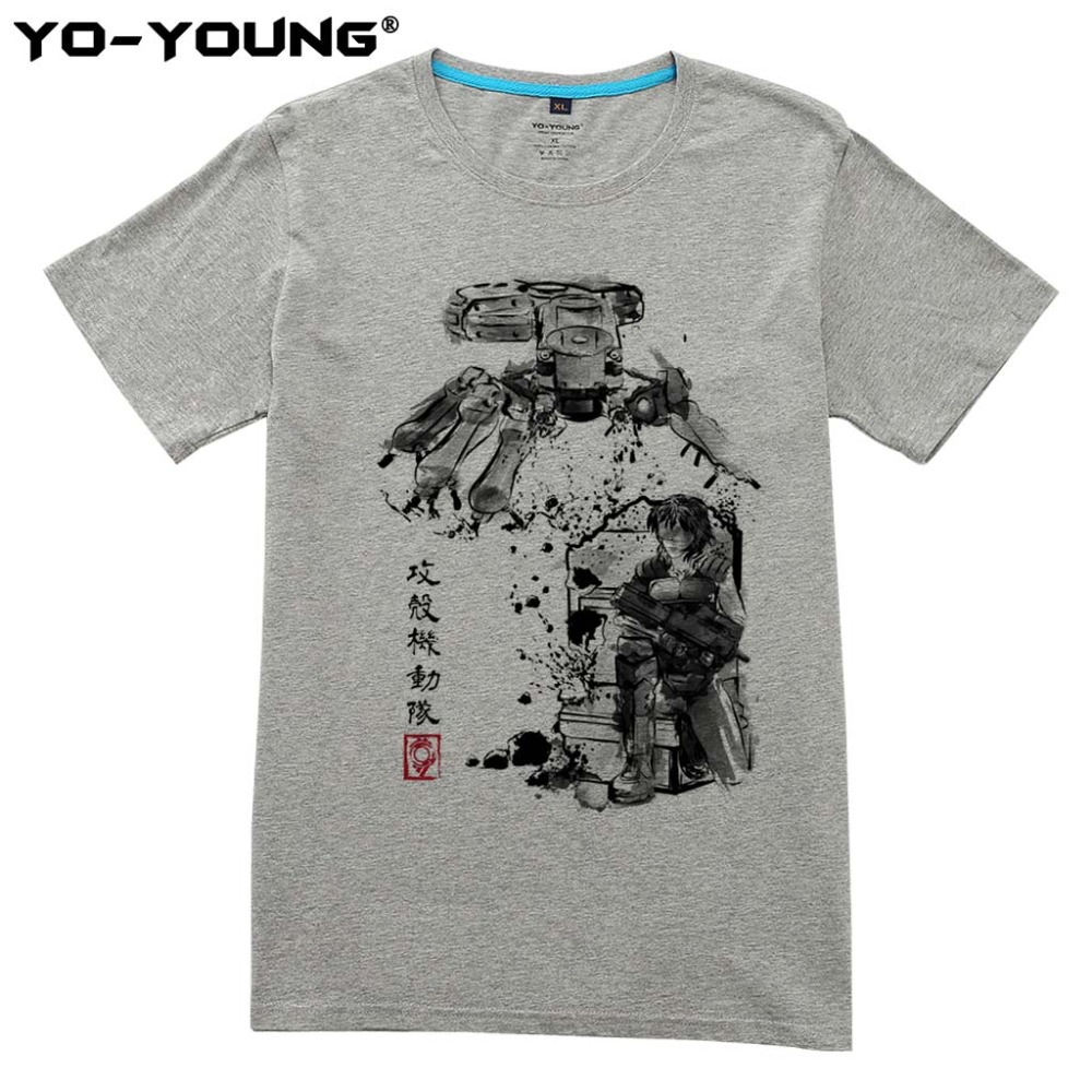 Ghost In The Shell Major vs Tank New Men T Shirts Digital Printed 100% 180gsm Combed Cotton T-shirts Customized