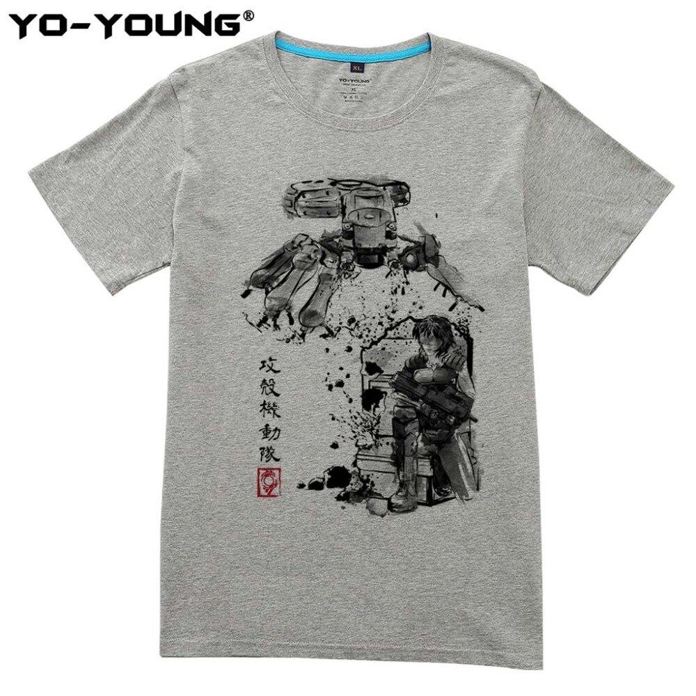Ghost In The Shell Principali vs Serbatoio Nuovi Uomini T Shirt Digitale Stampata 100% 180gsm Pettinato Cotone T-Shirt Su Misura
