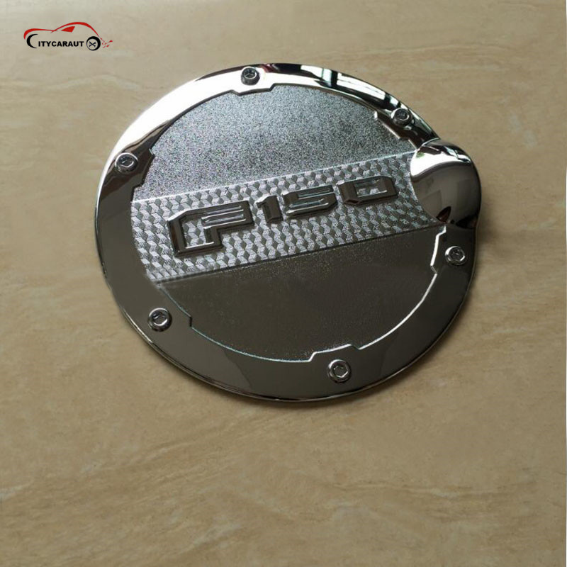 high quality chrome Tank Cover for Ford F 150 Pick up 2015 2016 Fuel Cap PICK