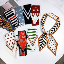 Pointed small twill silk women scarves New Top Quality Joker long Korean scarf uniform for tie hair decoration