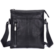 Men Business Travel Shoulder Bags Cow Leather 2019 Male Black Vintage Casual Crossbody Bag Genuine Leather Man Messenger Bags