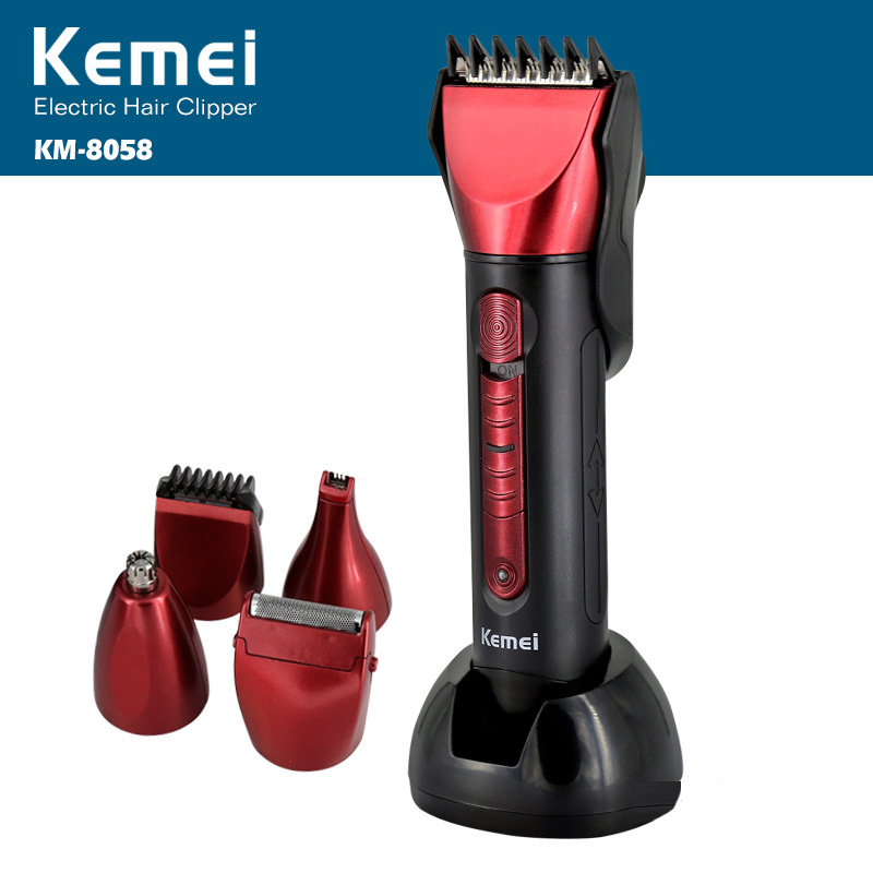 Kemei Rechargeable 5 In 1 Electric Haircut Machine For Man Professional Hair Clipper Cordless Electric Hair Trimmer KM-8058Kemei Rechargeable 5 In 1 Electric Haircut Machine For Man Professional Hair Clipper Cordless Electric Hair Trimmer KM-8058
