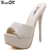 Simple Stylish Women Slippers Shoes High Heeled Sandals Sexy Thin Heels Women S Shoes