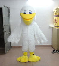 Customised White Bird Turkey Plush Mascot SpotSound US With Peculiar Hairs