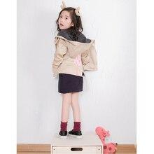 2017 girl hooded caual tops cartoon piggy Windbreaker coat 138