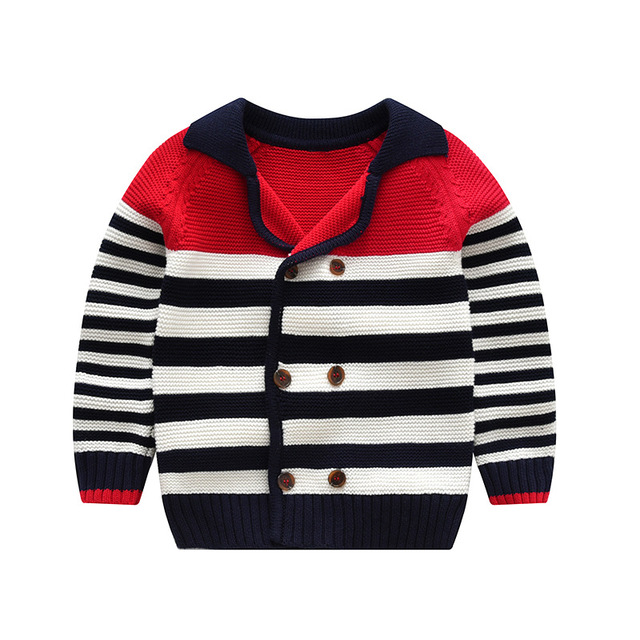 Fashion Europe Childrens Sweater Girls Striped Pattern Tops Baby