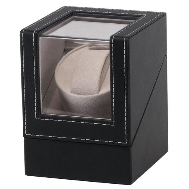 EU Plug Black High Class Motor Shaker Watch Winder Holder Display Automatic Mechanical Watch Winding Jewelrys Box New