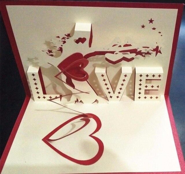 3D Wahrnehmung Liebe Geständnis Baum Freundin Geburtstag Karte Hochzeitstag  Sprechen Heraus Valentinstag Liebe Grußkarten