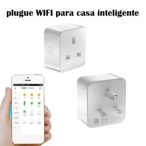 Image 1 - Prise intelligente Wifi pour Alexa/google assistant APP mobile télécommande prise intelligente UK pour télécommande de programme graffiti