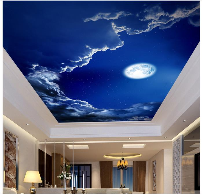 wallpaper for ceiling mural sky - photo #7