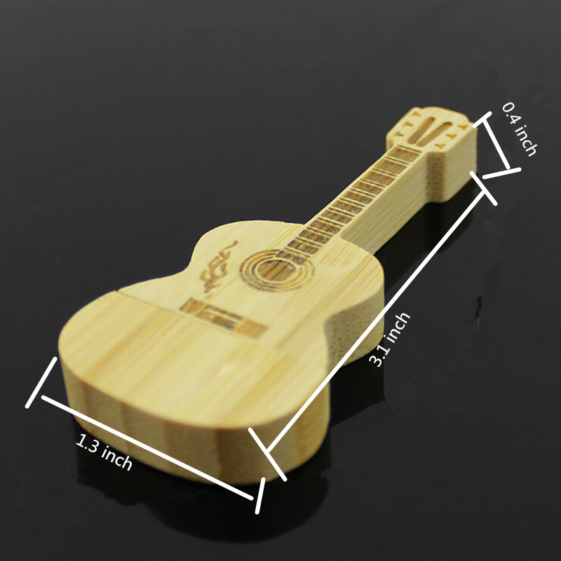 100% high quality guitar-shaped pen drive wooden guitars model usb flash drive memory Stick pendrive 4GB 8G 16GB 32GB gift