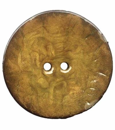 1 st 2 hål emalj gula kokosnötskal Knappar passar sömnad och scrapbooking 63mm dekorativa knappar XP0351